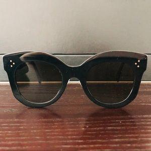 Celine cat eye flat sunglasses black